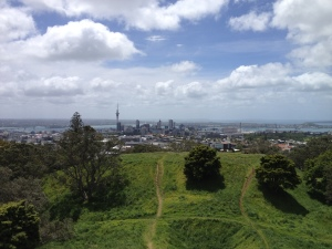 View of the city from mount eden