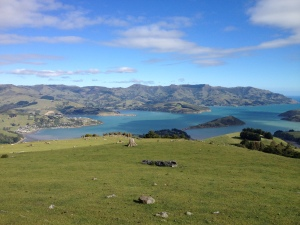 Akaroa Harbour with Onawe Peninsula