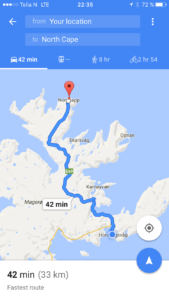 Honningvag to North Cape